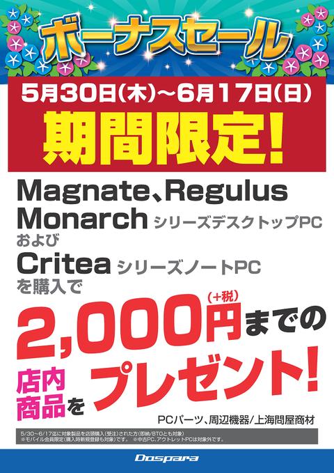 2000円分プレゼント