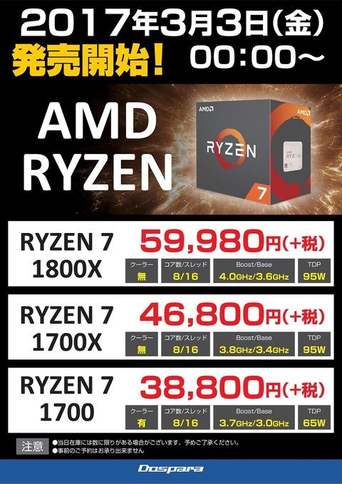 AMD-RyzenCPU価格表