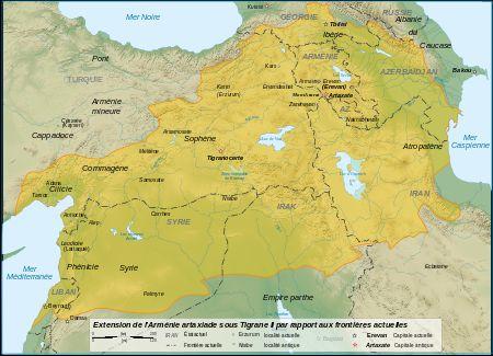 アルメニア王国の最大版図