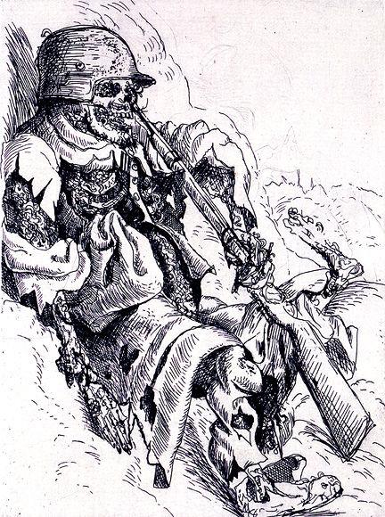 壕の中で死んでいる歩哨