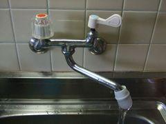 キッチン蛇口のハンドルをレバー式に交換