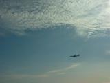 あ 飛行機だ