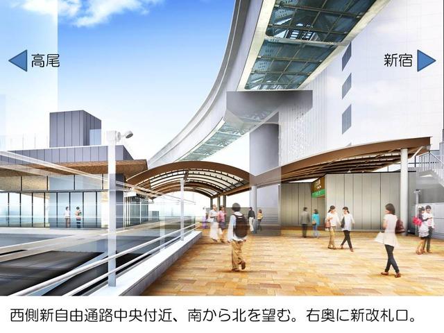 160617_立川駅西側新自由通路整備事業 新改札口パース
