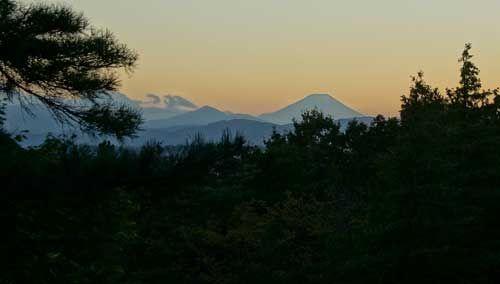 昭和記念公園 こもれびの丘 展望台 富士山