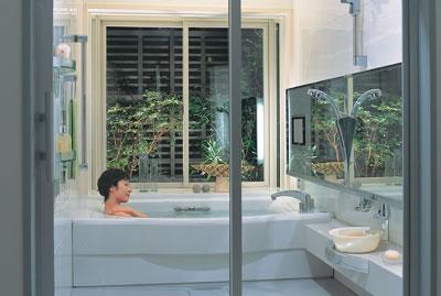 ぬくもりのあるバスルーム