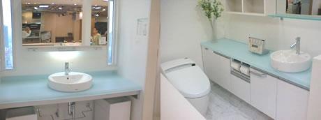ミニマルモダン 化粧台とトイレ