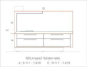Isola type2 黄金比のプロポーション