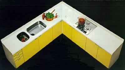 国産初一体成型人造大理石キッチン