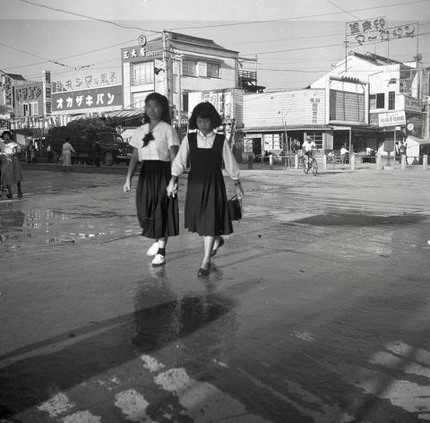 岡崎市内1954