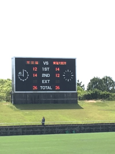 第66回静岡県高等学校総合体育大会ラグビーフットボール競技決勝トーナメント準々決勝