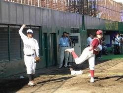川崎&宮原投手