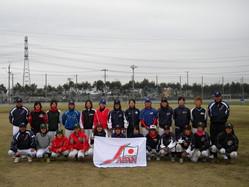 第10期女子野球全日本代表候補選手
