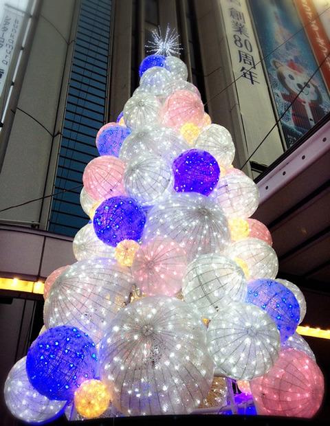 東急本店クリスマスツリー_寄り
