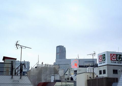 渋谷_曇空_Rain