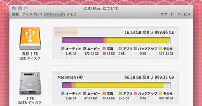 Mac空き容量確認3