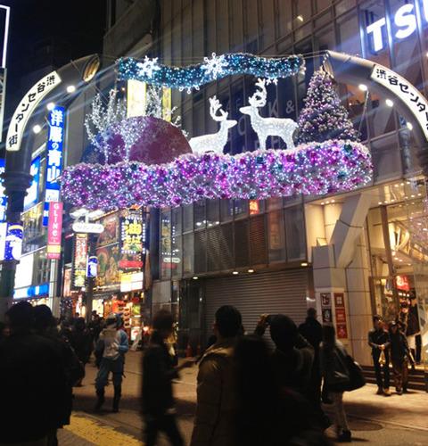 センター街トナカイクリスマス