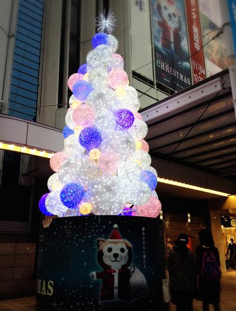 東急本店クリスマスツリー
