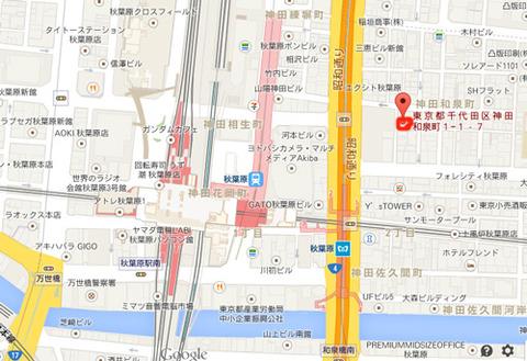 秋葉原ACT&B地図