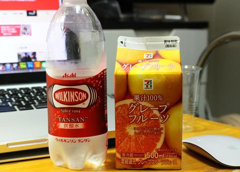 果汁100%&炭酸水