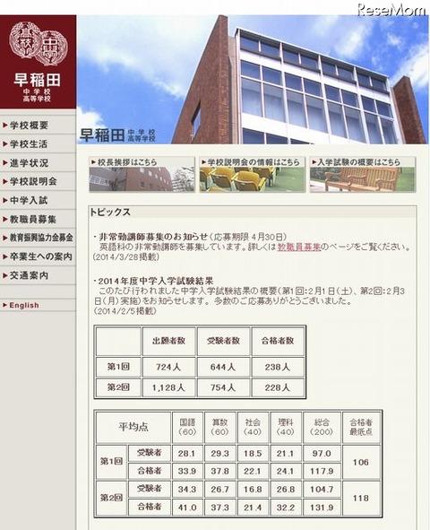 早稲田中・高等学校
