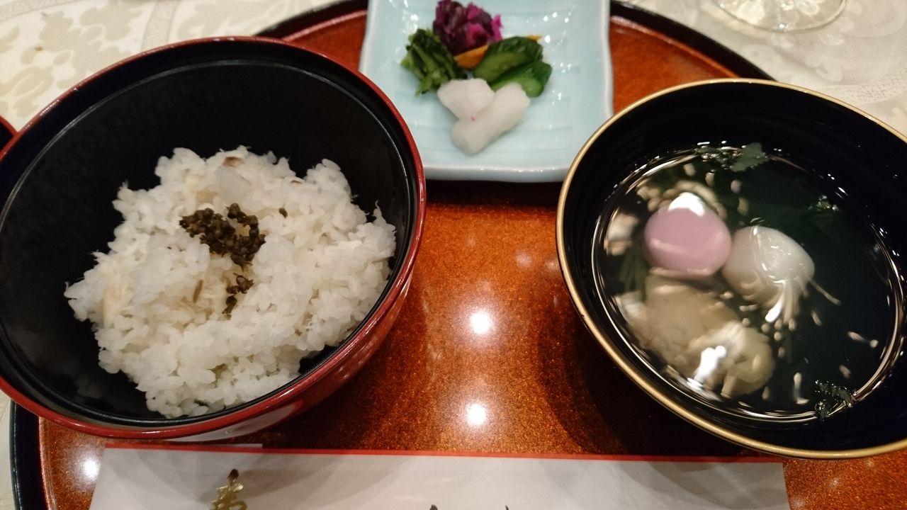 鯛御飯と蛤のお吸い物