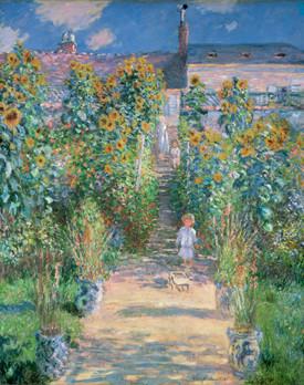 クロード・モネ《ヴェトゥイユの画家の庭》