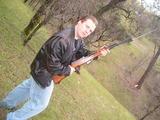 Noah with a gun