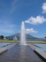 桜島、噴水噴火。