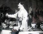 演説をぶつヒトラー
