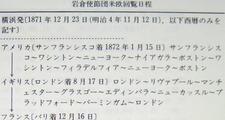岩倉使節団 米欧回覧日程 1