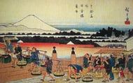 広重『東都名所 日本橋魚市』