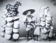 1890年頃の生活雑貨の棒手振り