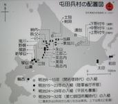 北海道の屯田兵村の配置