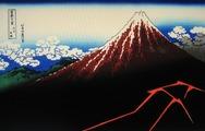 北斎『富嶽三十六景 山下白雨』1830-2年頃作成