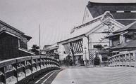 築地橋から見た新富座