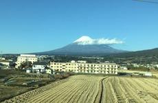 20170102新幹線から見た富士山