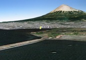 田子の浦沖から見た富士山