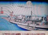 三十石舟の浮世絵