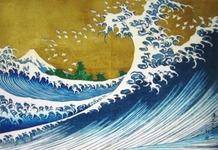 北斎『富嶽百景 海上の不二』1835年作成・北斎75才