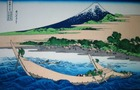 北斎『東海道江尻田子の浦略図』1830-2年頃作製