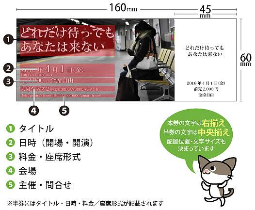 テンプレートチケット 写真タイプ_仕様