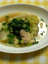 白菜と鶏肉の蒸し煮