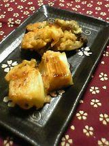 ねぎの味噌漬け天ぷら しめじの天ぷら