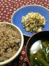 豆腐とじゃこのサラダ 黒豆入りご飯