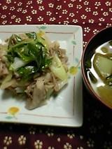 豚肉とねぎのマヨ塩炒め