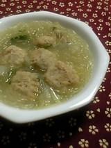 鶏団子の春雨スープ