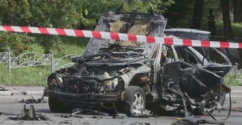 ウクライナ国防省の情報部門の責任者の車が突然爆発して男性が死亡・・ウクライナ内務省「ロシアの仕業だ」