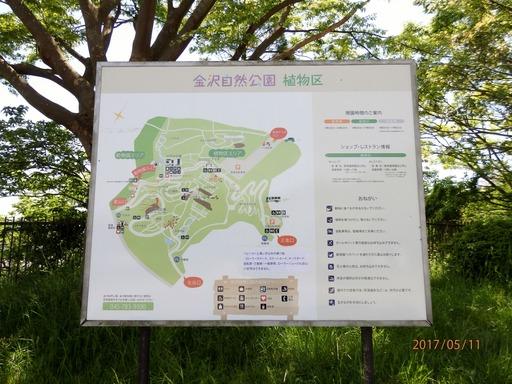 073 金沢自然公園植物区地図