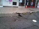 不二家前 地震後