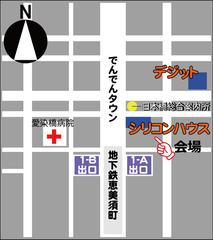 シリコン・デジット地図